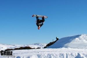 Photograph by Gemz Photography Chance Egure flies high into a backflip.