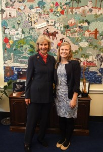 Photograph courtesy of Darion Johnston Johnston spent the semester working with Rep. Lois Capps.