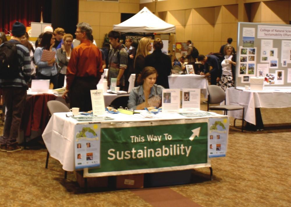 Community members met for Campus Sustainability Day in the Bell Memorial Union auditorium on Oct. 23.Photo credit: Shelby Keck