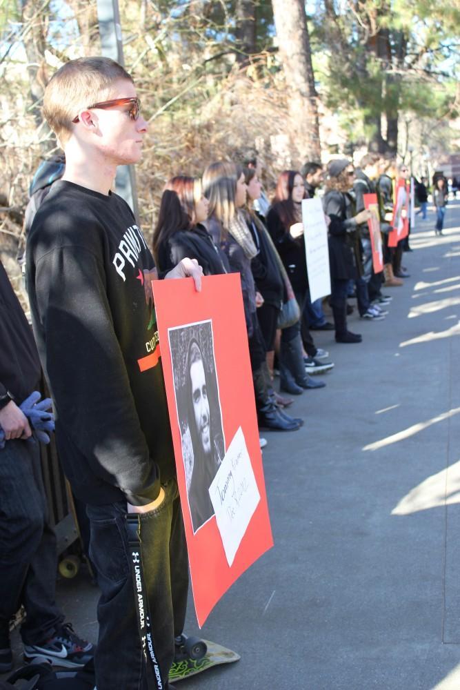 Daniel Senn participates at the memorial.Photo credit: Lindsay Pincus