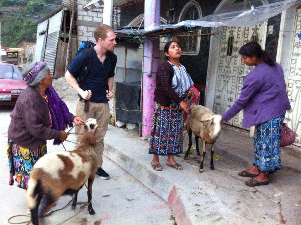 Photograph courtesy of Dustin Anderson ustin Anderson, center, spent the summer volunteering in Guatemalan clinics.