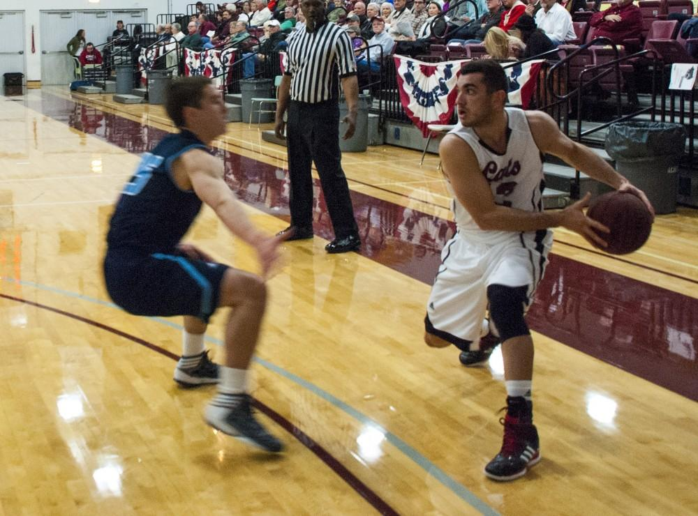 Giordano Estrada finished the night with 11 points Saturday versus Cal State East Bay.Photo credit: Alex Boesch