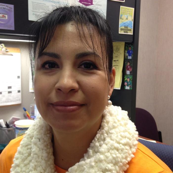 Maria Martinez, administrative support assistant at the Student Health Center, enrolls students in FamilyPACT, a program that assists students with covering medical expenses.Photo credit: Christine Lee