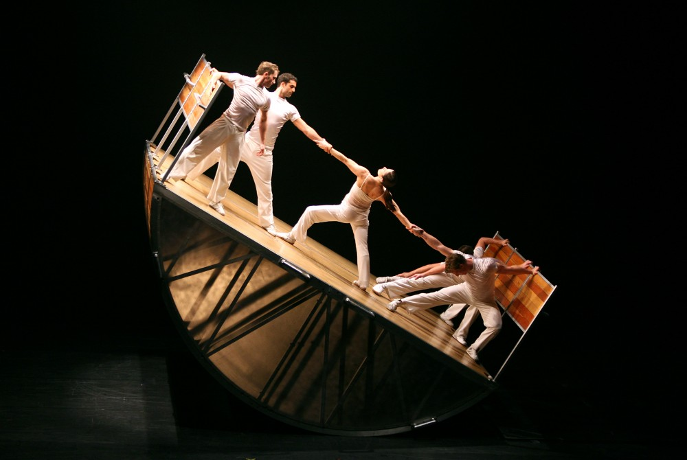 Diavolo: Thrilling Gymnastics & Dance, is coming to Laxson Auditorium March 25. Photo courtesy of Chico Performances.