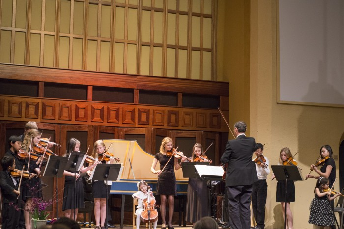 The advanced orchestra plays during the Going for Baroque concert on Friday night. Photo credit: Matthew Vacca