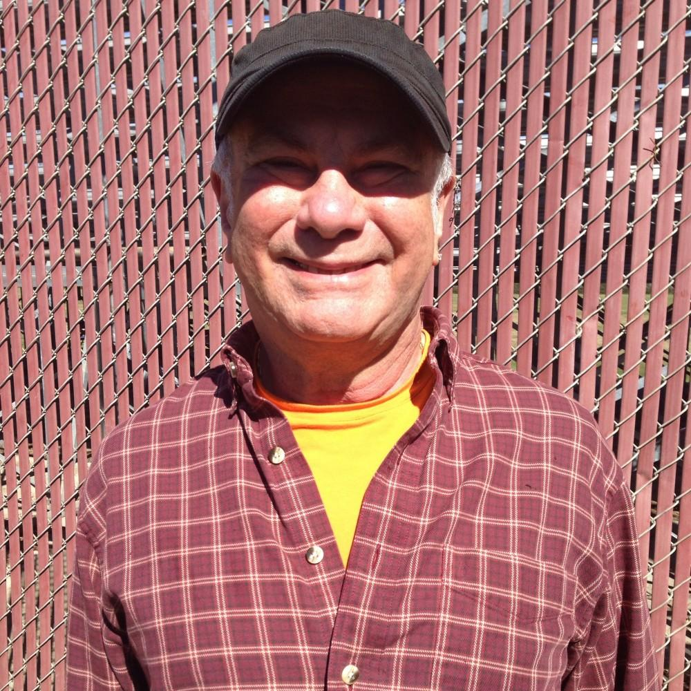 Rich Drouillard, 68, attended the Friday softball game against Cal State Dominguez Hills. Photo credit: Sergio Sanchez