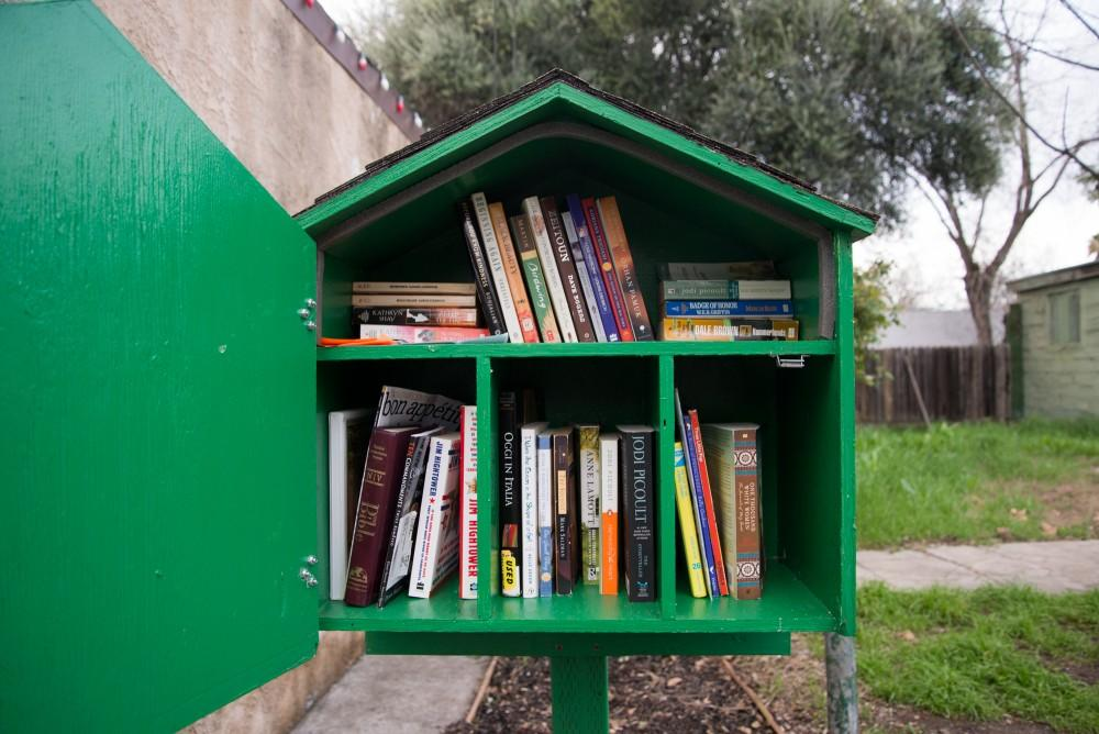 Free books waits in the Little Green Box at Has Beans Coffee & Tea Company on Humboldt Avenue.Photo credit: Matthew Vacca