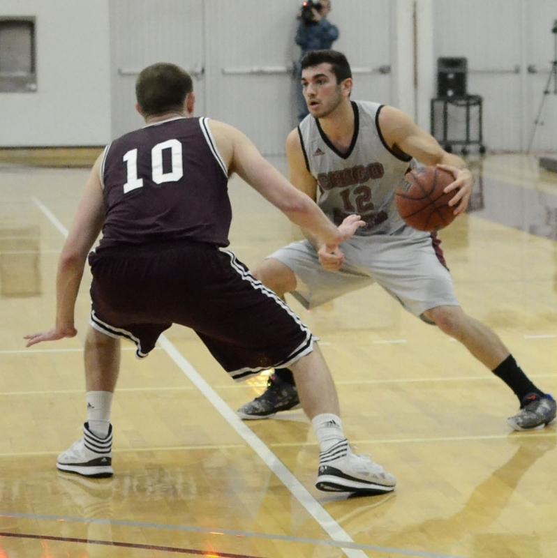 Giordano Estrada attempts to get around a defender against Seattle Pacific earlier this season. Orion file photo.