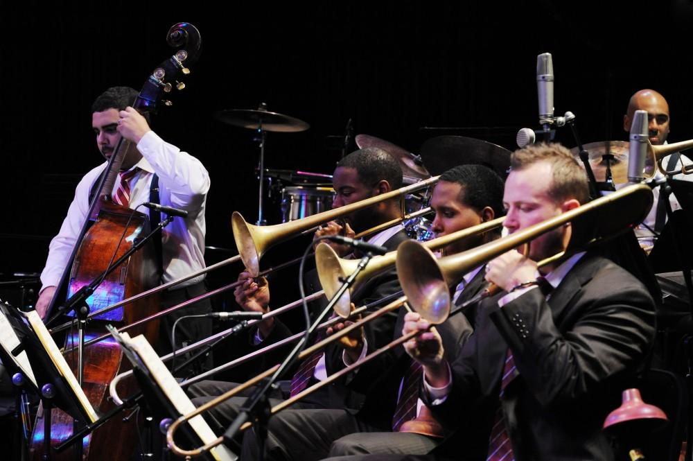 The Jazz at Lincoln Center Orchestra emphasizes the brass section. Photo Courtesy of Chico Performances.