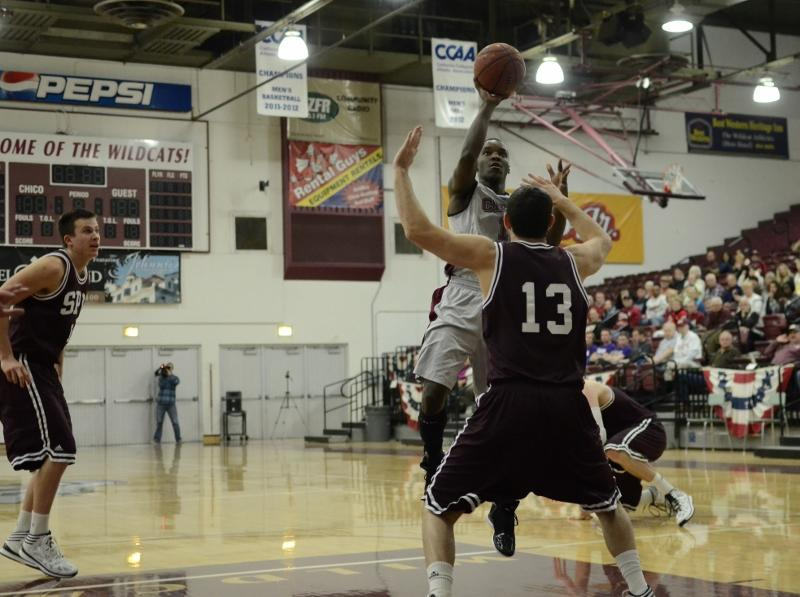 Rashad Parker looks to score against Seattle Pacific University earlier this season. Orion file photo.