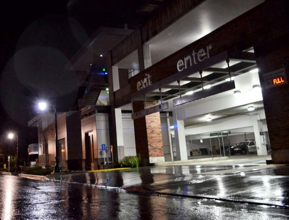 University Police traced a silent phone call to the parking structure neighboring the station, where they discovered a shopping cart containing a garbage bag full of marijuana.Photo credit: Nicholas Carr