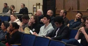 Members of Chico State's administration and student government attend Tuesday's City Council meeting to weigh in on the social host ordinance. Photo credit: Bill Hall