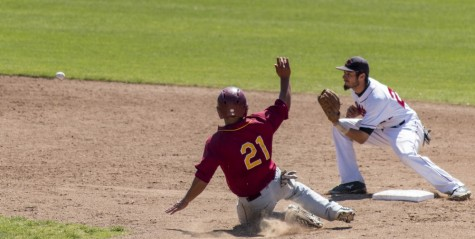 Shortstop Cody Slader gets the out against Cal State Dominguez Hills earlier this season. Photo credit: Grant Mahan