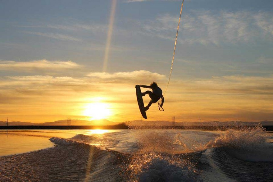 Taylor Fredrickson of the Chico State wakeboard club. Photo courtesy of the Chico State wakeboard club.