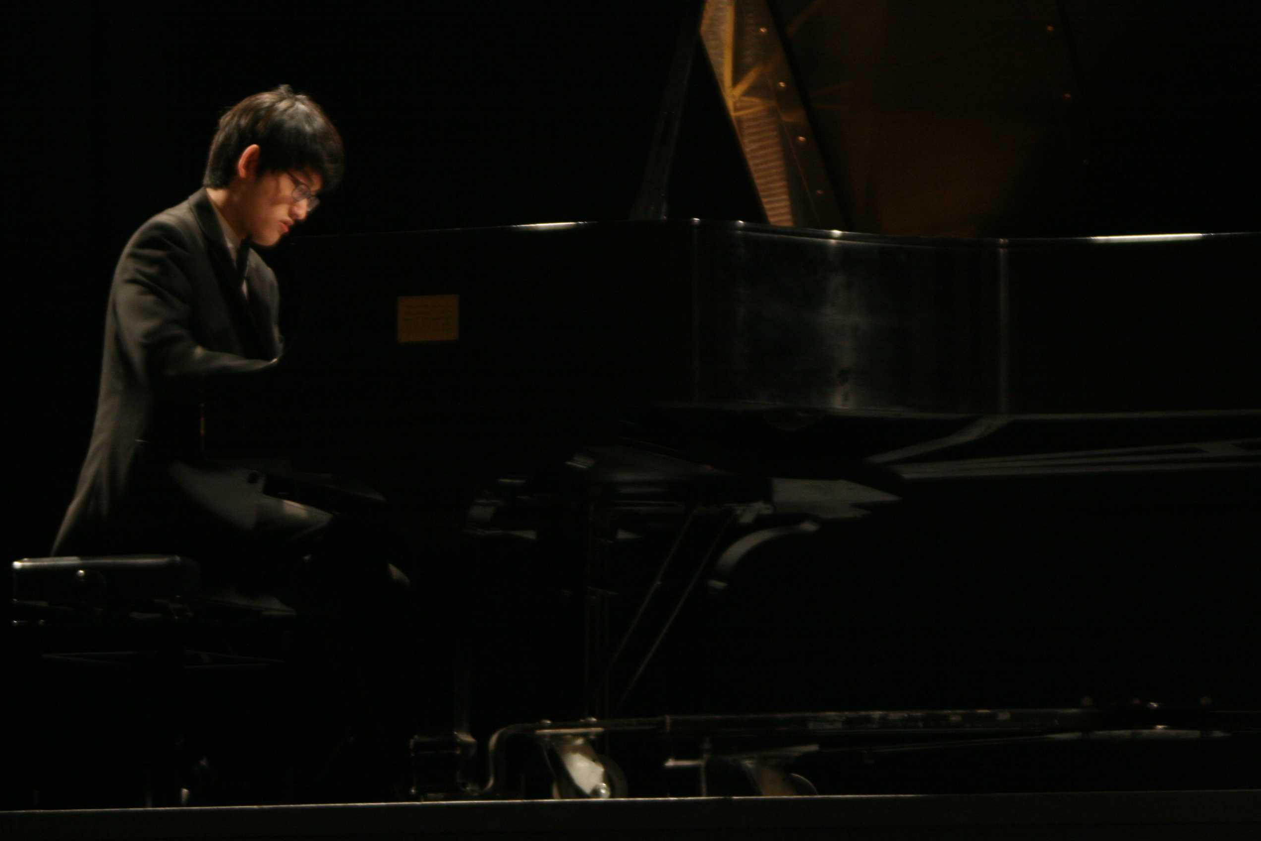 Jason Kim competed at the 2014Earl R. and Marilyn Ann Kruschke Prize in Piano Performance Competition April 5 at the Performing Arts Center. Photo credit: Shayla Ramos