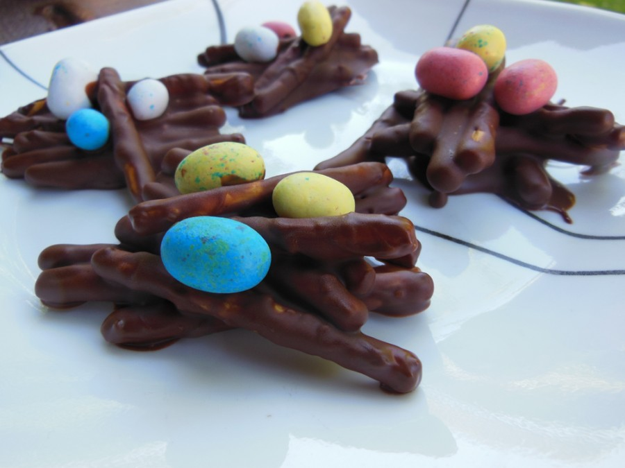 Celebrate Easter with chocolate egg nests. Photo credit: Christina Saschin