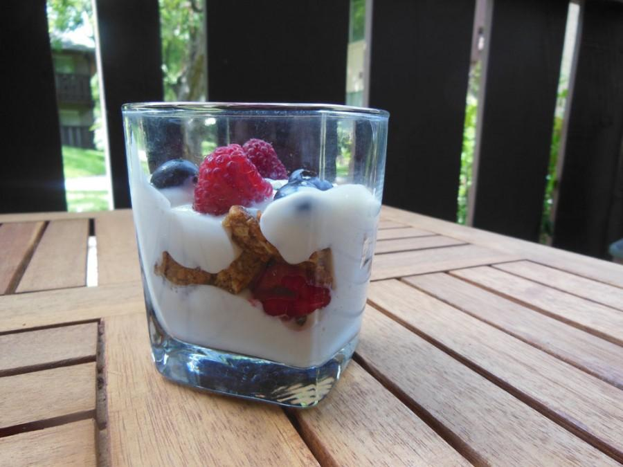 This breakfast parfait will fuel your morning for finals. Photo credit: Christina Saschin