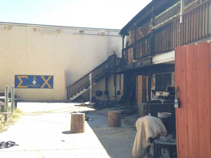 Frat house burns and parties rage Thursday night