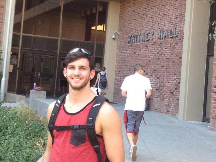 Caleb Meyer, fourth-year business major, has previously worked as a resident adviser at Whitney Hall and currently at University Village. Photo credit: Lindsay Pincus