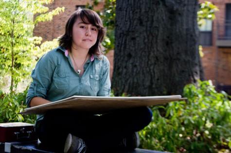 Victoria Davila, junior, applied computer graphics major. Photo credit: Ernesto Rivera