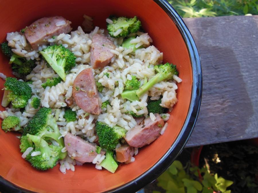 A New Orleans-style sausage and rice dish. Photo credit: Christina Saschin