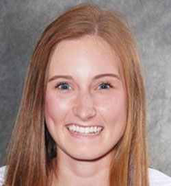 First-year outside hitter Anna Baytosh. Photo courtesy of Chico Wildcats