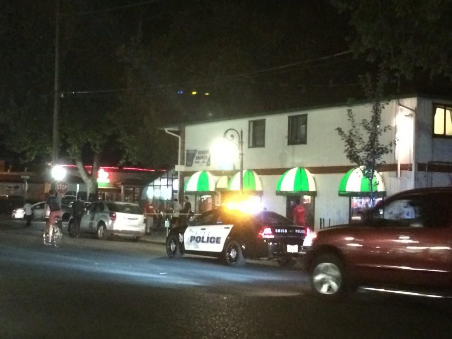 Police responded to a stabbing incident outside Riley's bar Sunday night. Photo credit: Anna Sobreviñas