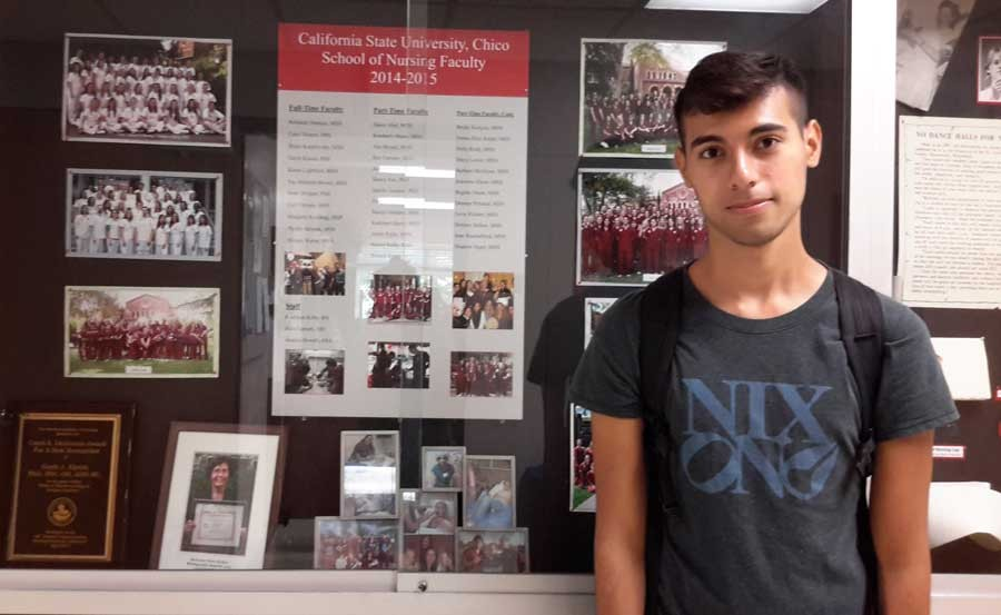 Jonathan Gurrola, a sophomore pre-nursing major, is planning to apply to different schools in case he's not accepted into the nursing program. Photo credit: Daisy Dardon