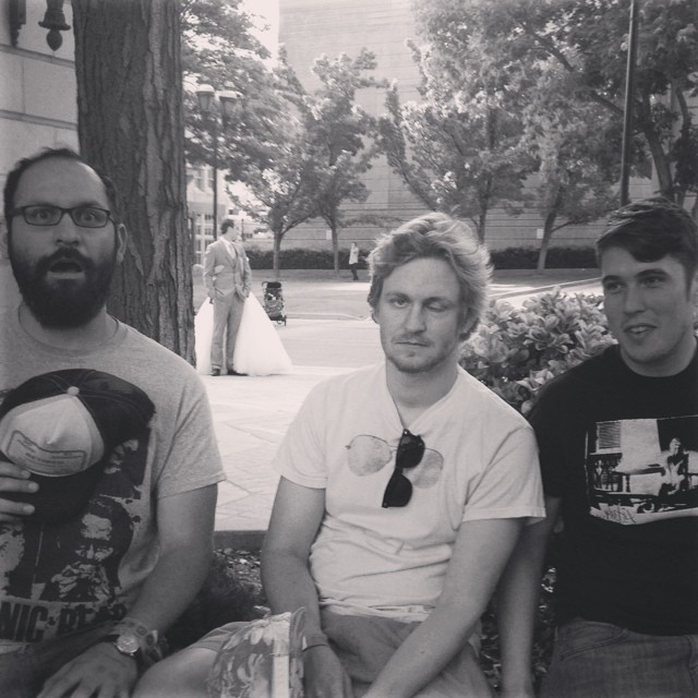 Teeph's current lineup, from left to right, is Sesar Sanchez, Alex Coffin and Matt Shilts. Photo courtesy of Teeph.