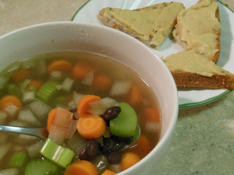 Black bean and vegetable soup Photo credit: Christina Saschin