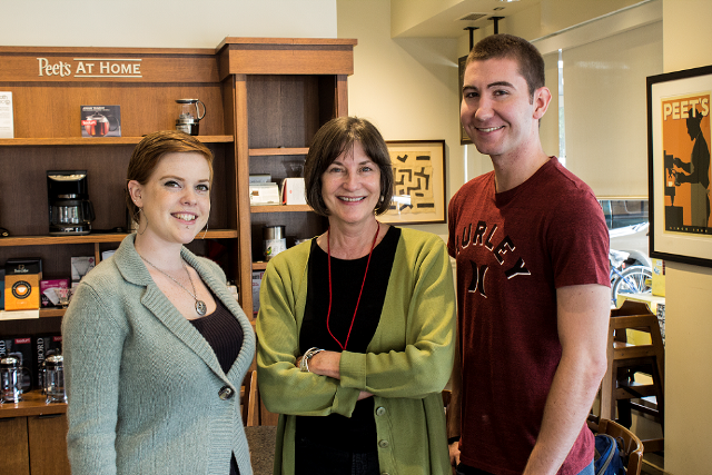 Festival Director Mary Ann Weston and public relations interns and Chico State students Anne Stanley and James O'Hagan have helped organize the 10th annual FOCUS Film Festival, which celebrates diversity and awareness of disabilities through film. Photo credit: Nnamdi Johnson-Kanu