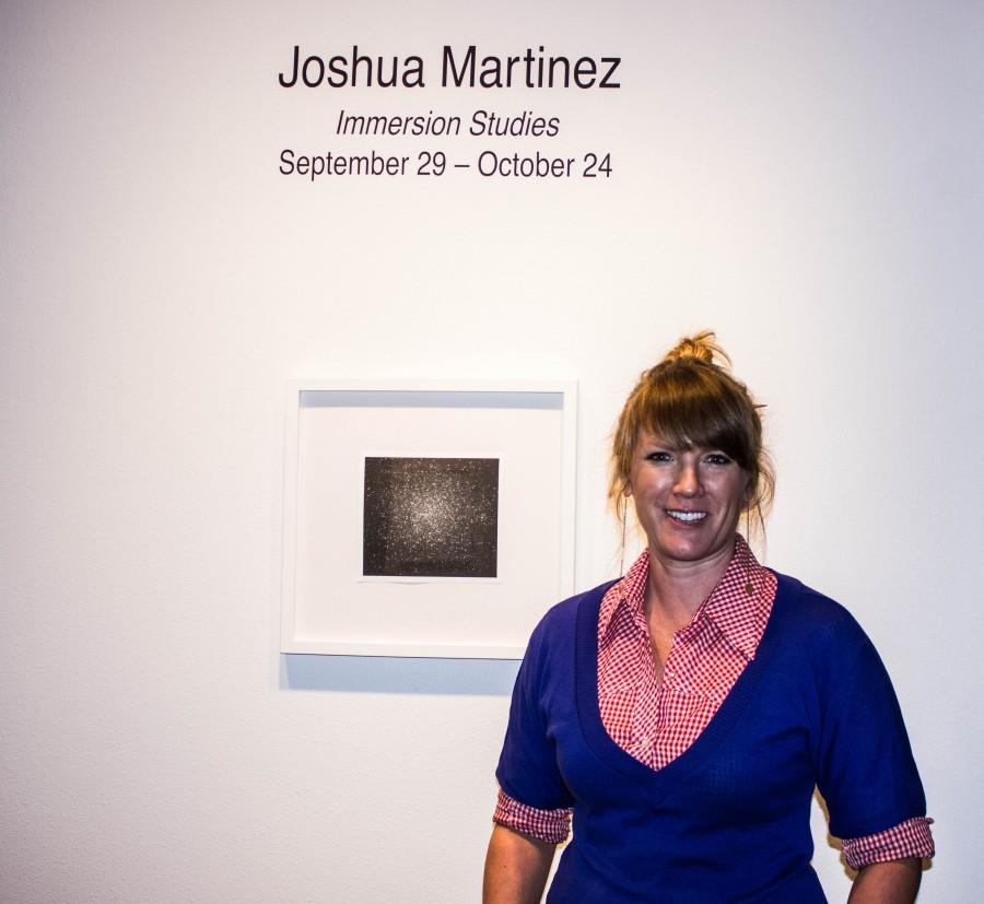 University Art Gallery curator, Cameron Kelly, is in charge of assembling the work of photographer Joshua Martinez for the exhibit