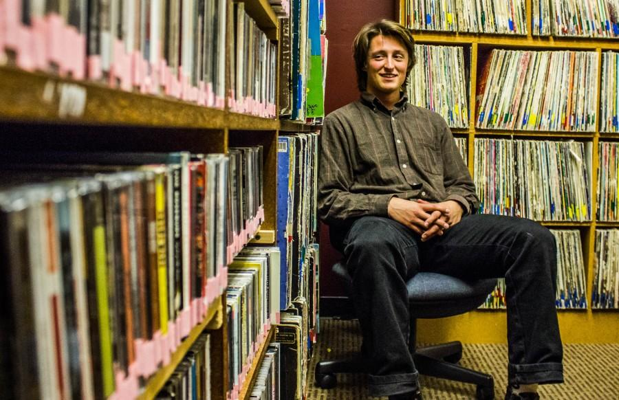 Clay Finch, senior music industry major and guitarist of Dakota Cree, also hosts a local music show called Chico Homegrown at the KCSC Radio station 7-8 p.m. Wednesdays. Photo credit: Chelsea Jeffers