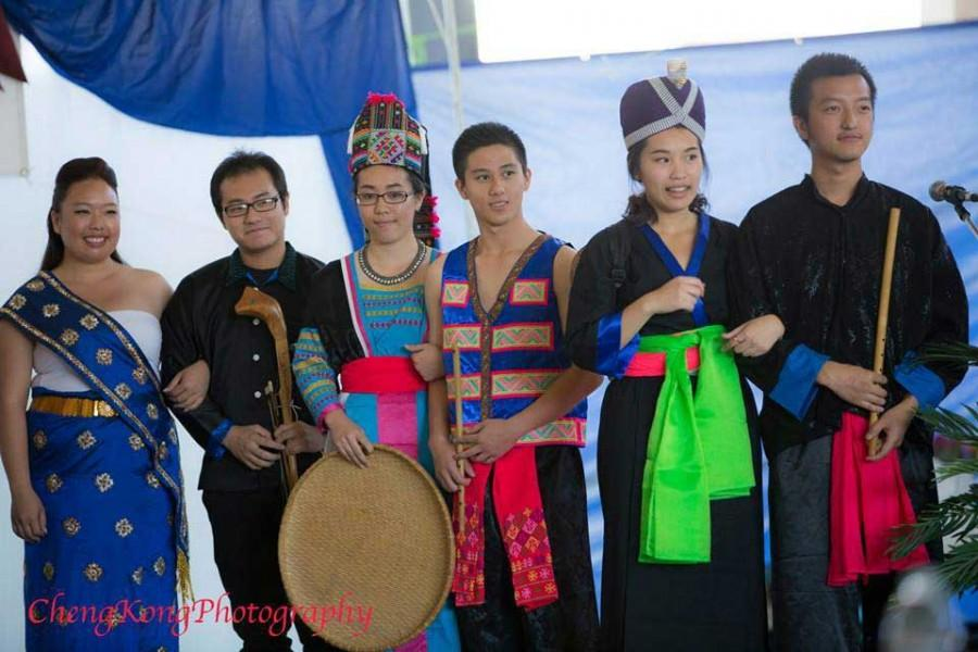 Students from the Hmong Student Association put on a fashion show Oct.4 during the Chico Hmong New Year festival, showcasing traditional clothing, instruments and household items used for gardening. Photo courtesy by Cheng Kong Photography