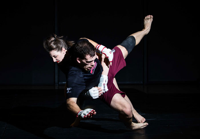 Amateur athletes teach mixed martial arts