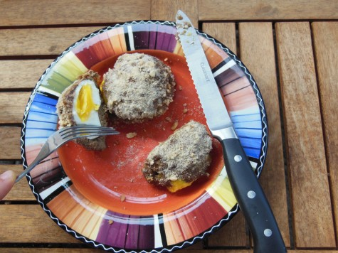 Homemade Scotch eggs Photo credit: Christina Saschin
