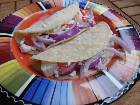 Chicken goat cheese tacos Photo credit: Christina Saschin