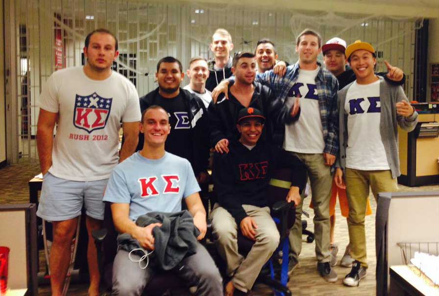 Members of the Kappa Sigma fraternity participated in the Downtown Safety Walk. Photo courtesy of Javid Kazimi.