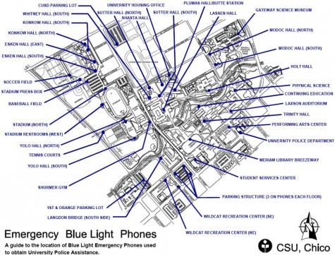 Campus sticks with Blue Light Phones