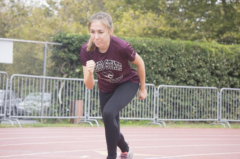 Freshman runner Camila Turati was named Freshman of the Year at the CCAA Championships. Photo credit: Brandon Foster