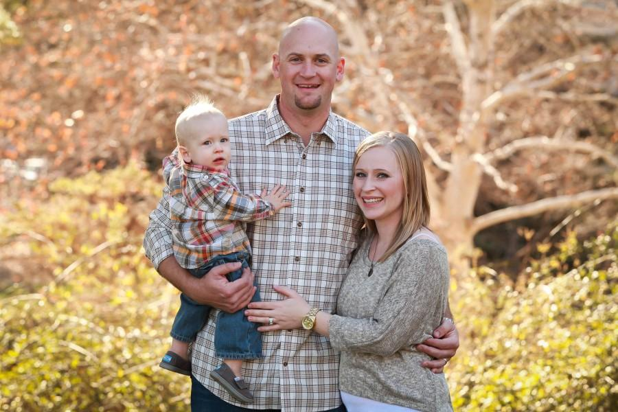 Aaron Demuth, center, with wife Lindsey and son Mason. Photo courtesy of the Demuth family