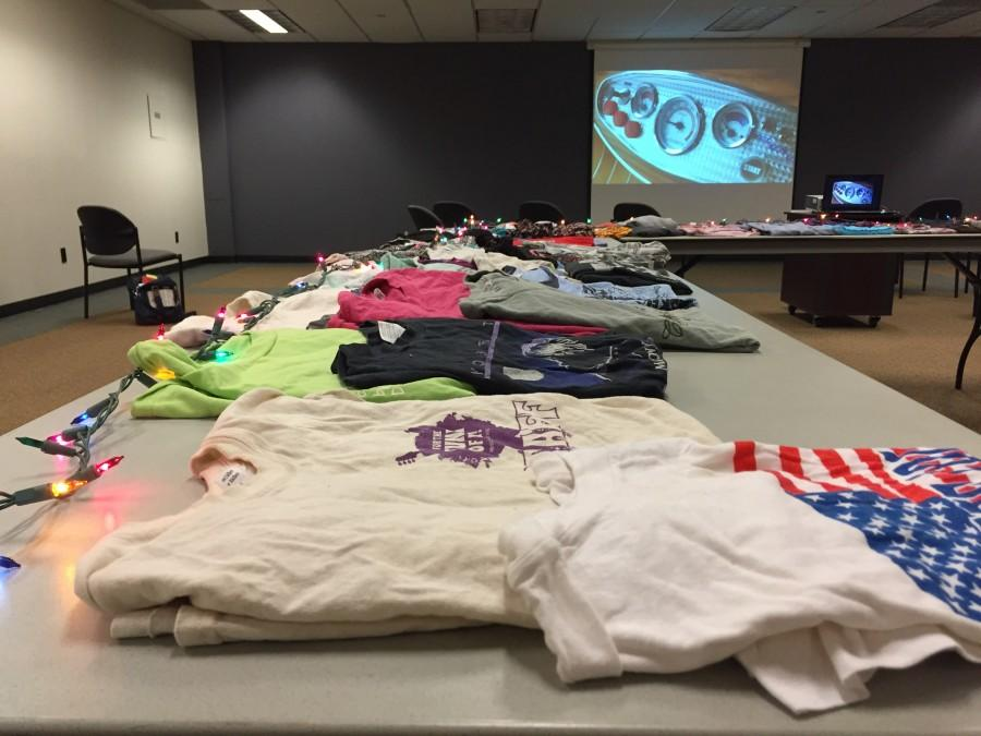 Students gathered in Bell Memorial Union on Dec. 8 to trade clothes with each other. Photo credit: Taylor Sinclair