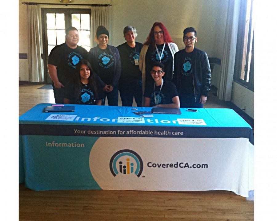Volunteers at the Covered California sign up day, Jan. 25. Photo credit: Madeline Merlic