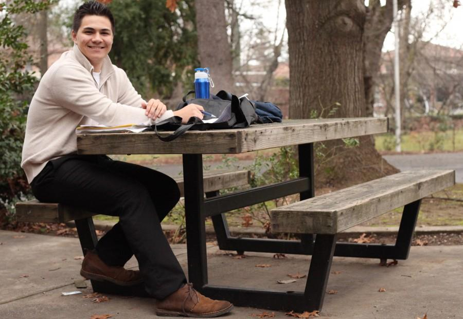 Michael Smith, first-year biochemistry major, aspires to try his hardest this semester and appreciate the outcomes. Photo credit: John Domogma