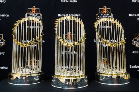 Giants' World Series trophies swing by Chico