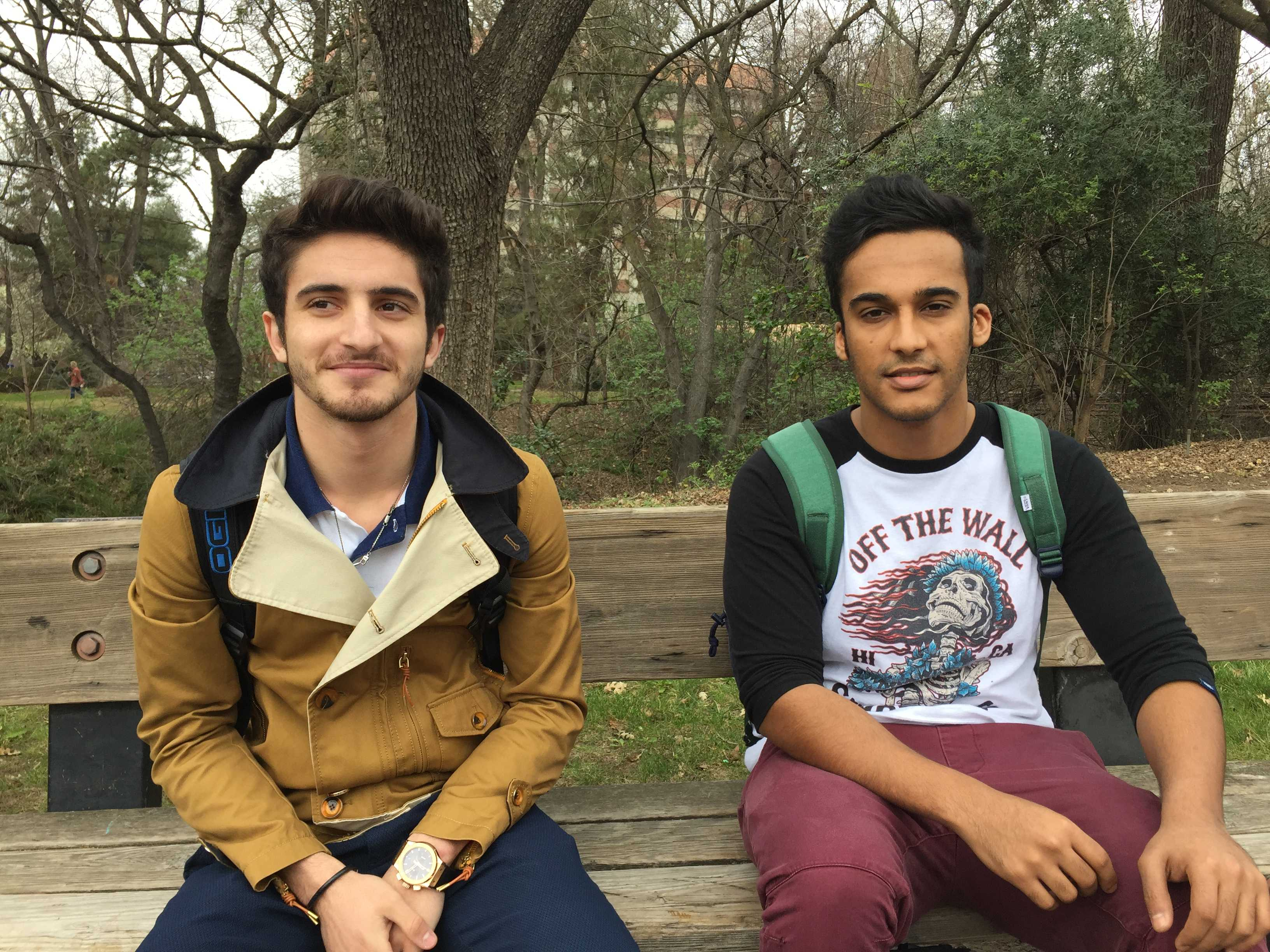 Ayman Arara and Yazeed Alsubaie, senior international relations majors Photo credit: Claire Martinez