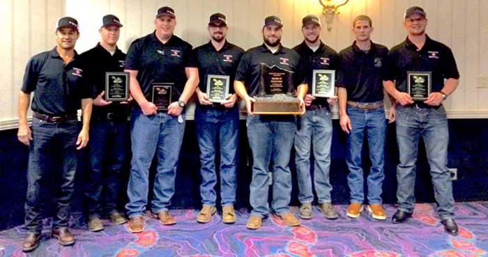 Chico State students on the heavy civil team competed at the Associated Schools of Construction Student Competition in Sparks, Nevada, and won first place in their category. Photo courtesy of Chris Souder.