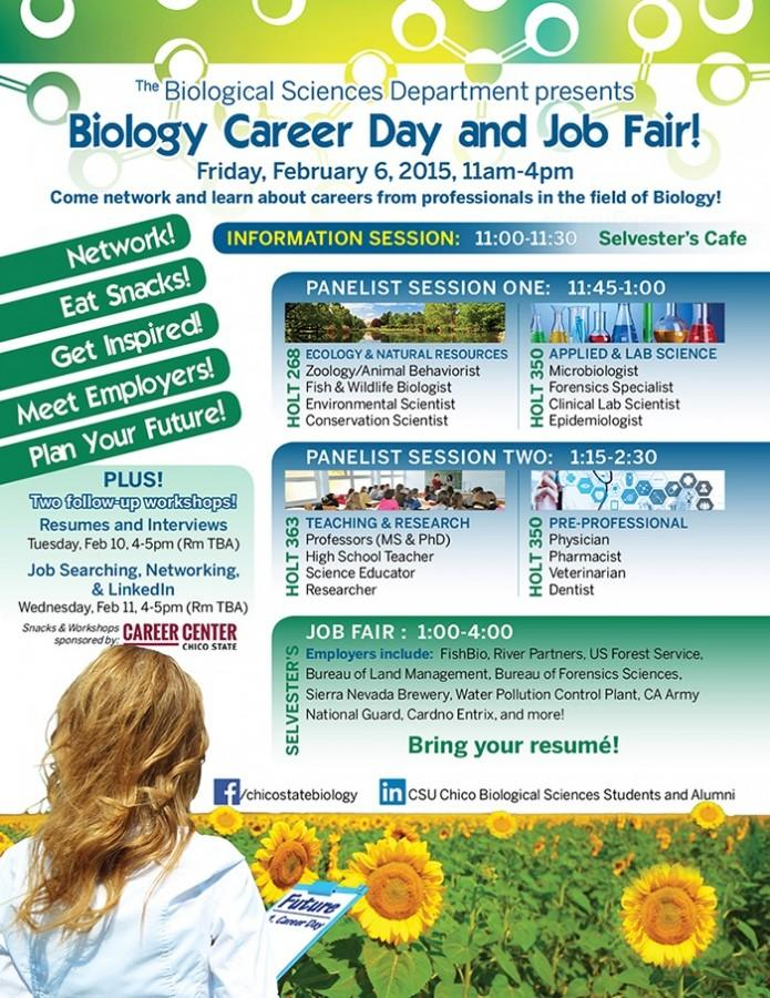 The biology fair was a day dedicated to biology majors and their opportunities in the job field. Photo courtesy of the School Biological of Sciences