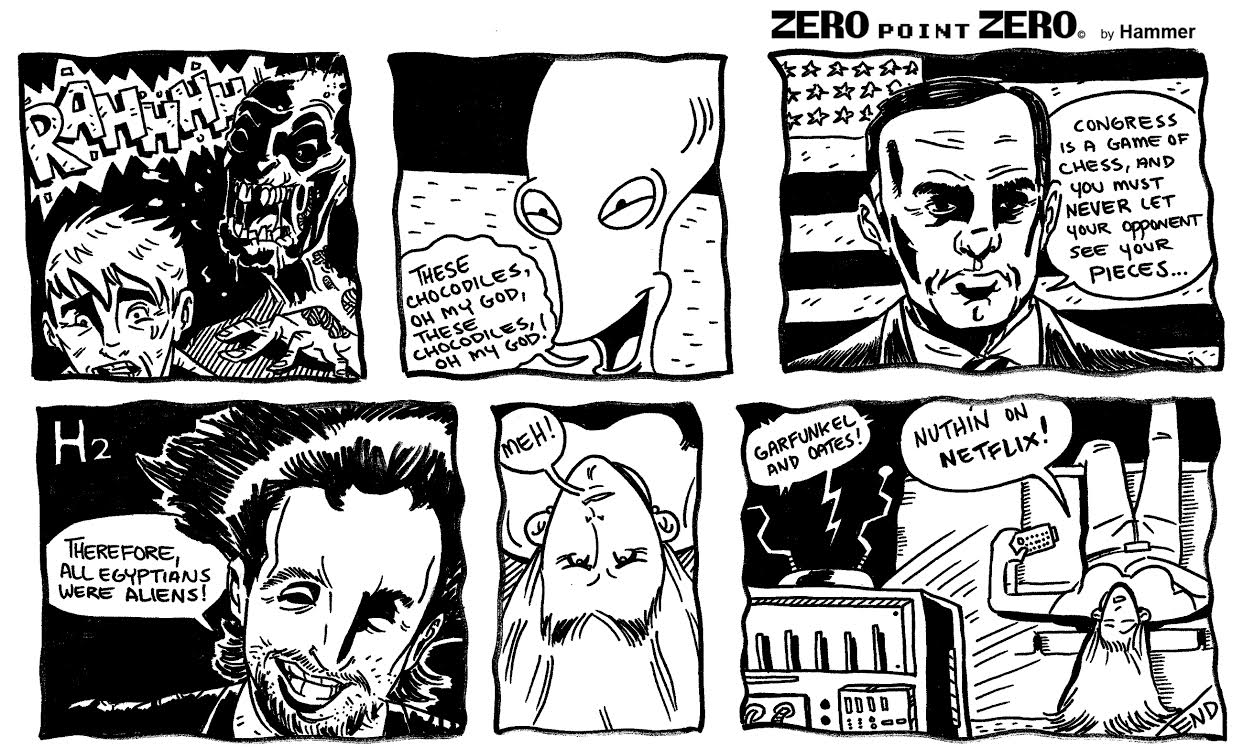 Comic strip illustrated and written by J.Q. Hammer