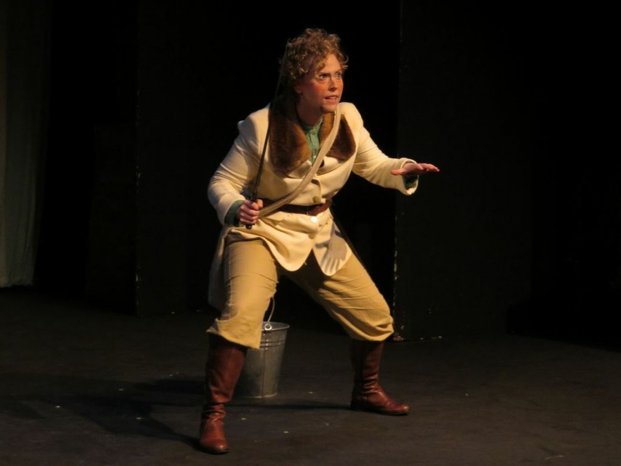 Chico State alumnus Katie Morrill performs as Izzy in her original script, PiTh, an interactive play about a woman who travels through time. The play will be featured at the Edinburgh Fringe Festival this summer. Photo Courtesy of Katie Morrill